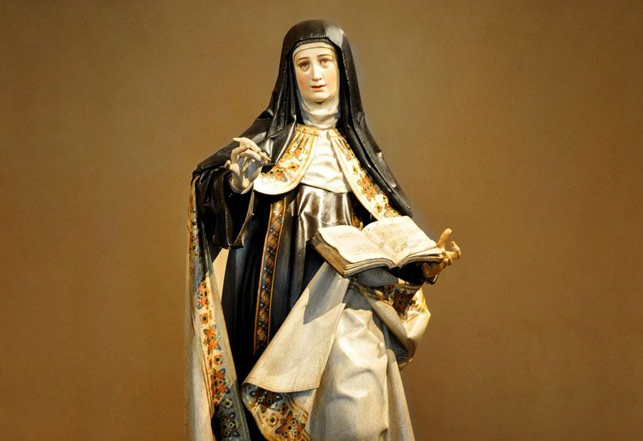 Santa Teresa escritora en Carmelitas Descalzas, Alba de Torres