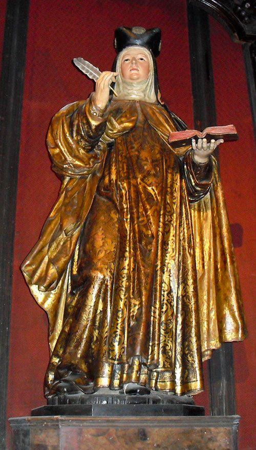 Santa Teresa Escritora en Carmelitas Descalzas, Sepulcro de Santa Teresa