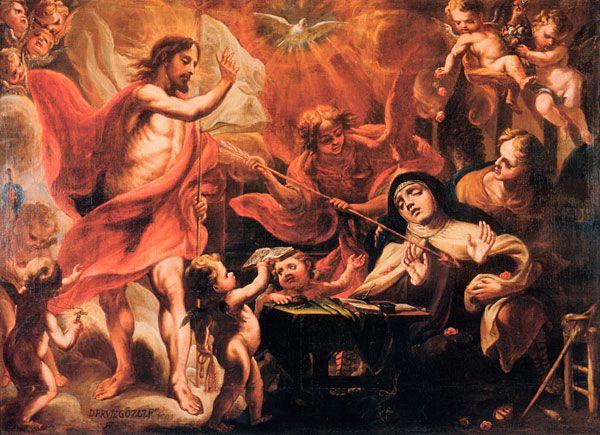 La Transverberación de Santa Teresa de Jesús con Cristo resucitado