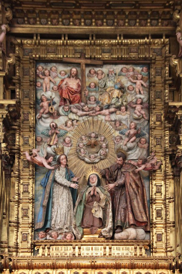 Santa Teresa recibiendo el collar de la Virgen y San José en Carmelitas Descalzas, Alba de Tormes