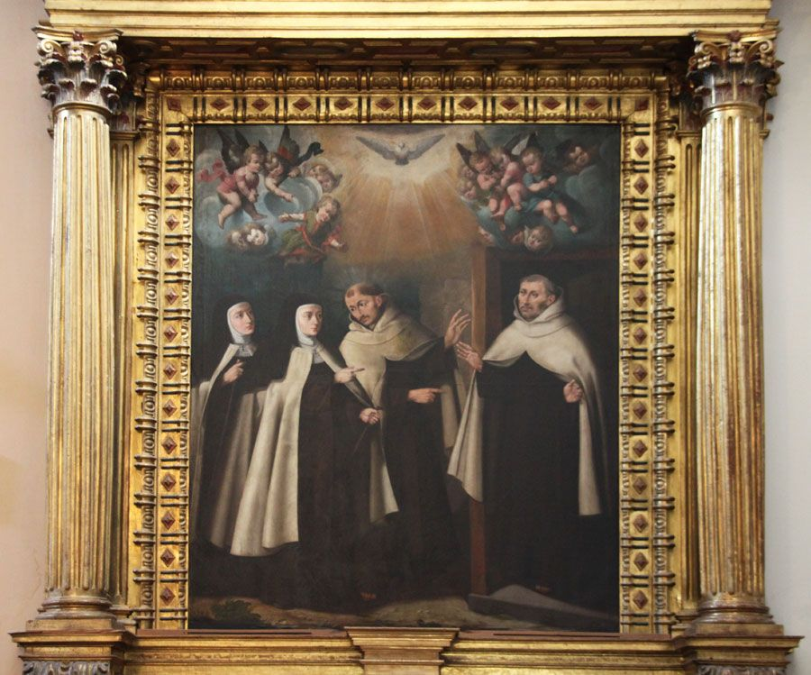 Santa Teresa visitando a los dos primeros carmelitas en Duruelo