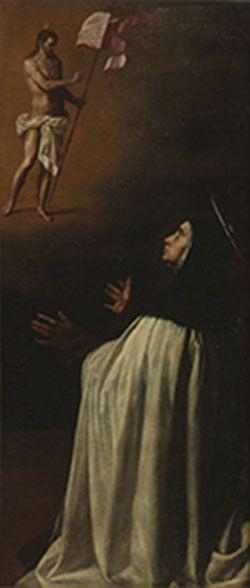 Aparición de Cristo Salvador a Santa Teresa