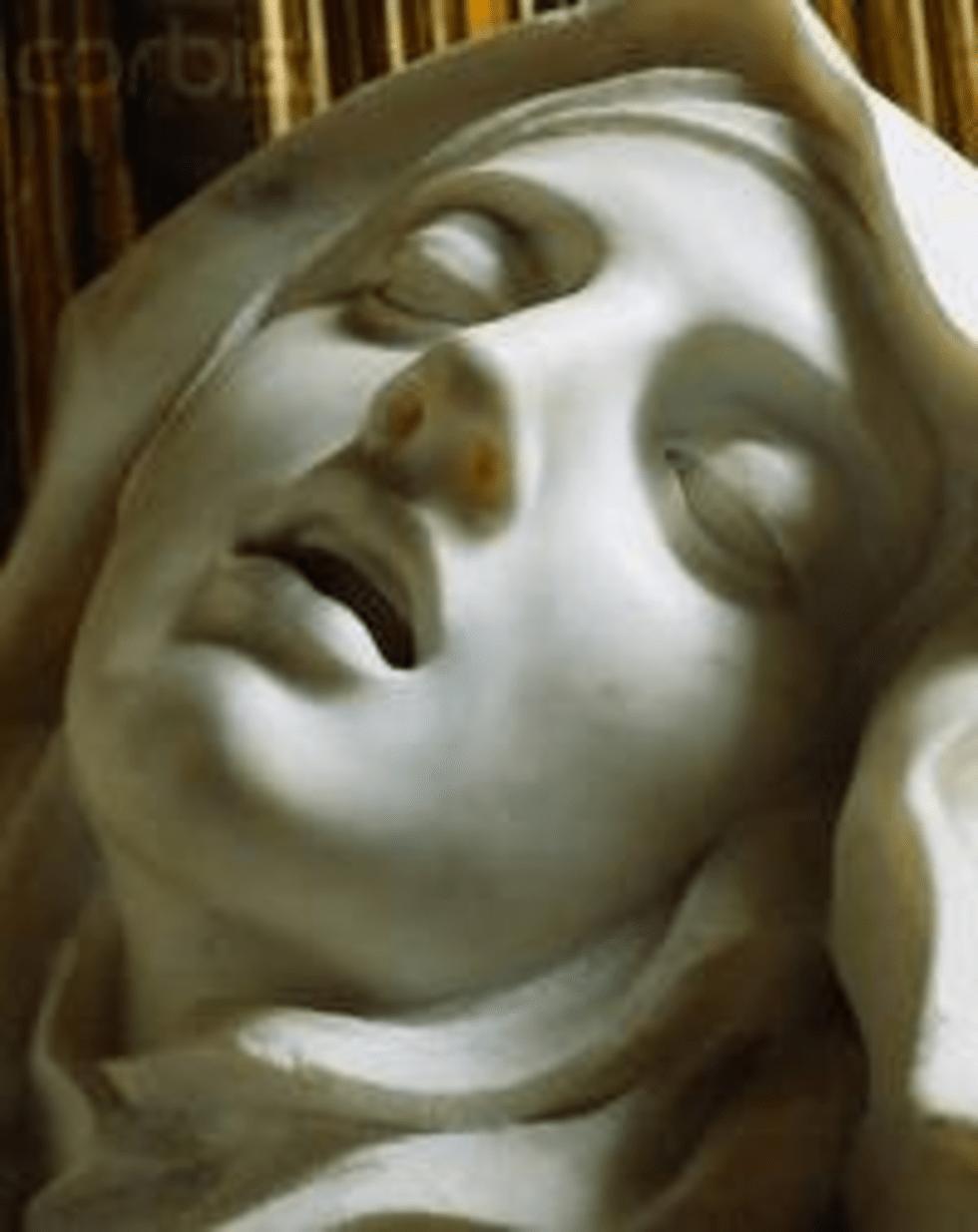 Éxtasis de Santa Teresa (detalle)