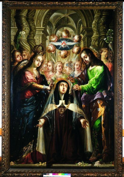 Santa Teresa Recibiendo el Collar en Carmelitas Descalzas, Alba de Tormes