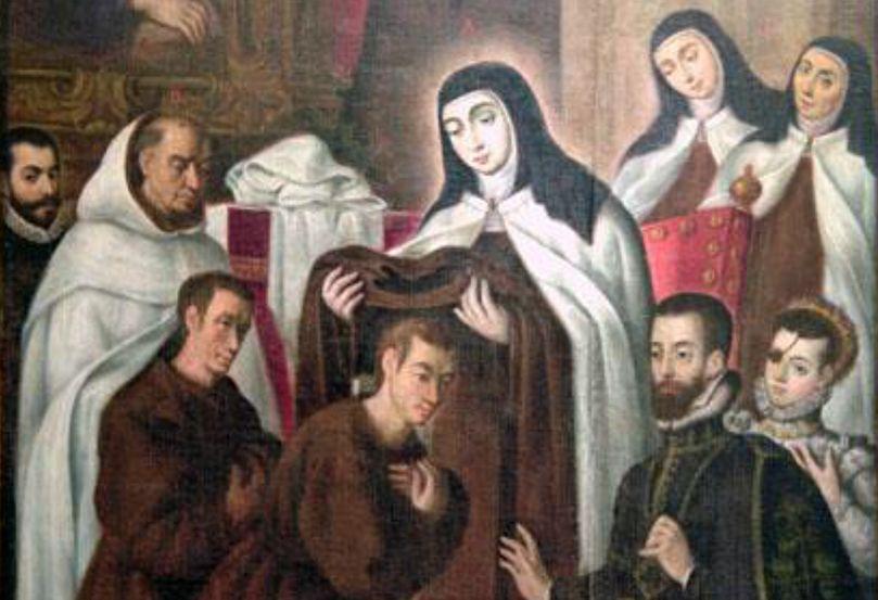 Santa Teresa de Jesús da el hábito a Juan Narduch y Mariano Azzaro