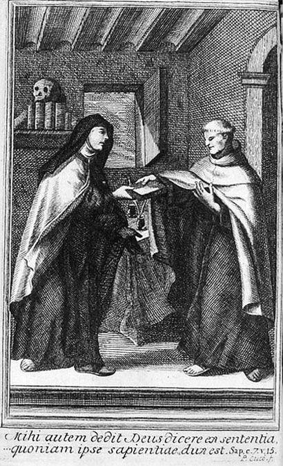 Grabado de la primera página de Exclamaciones o Meditaciones de Santa Teresa
