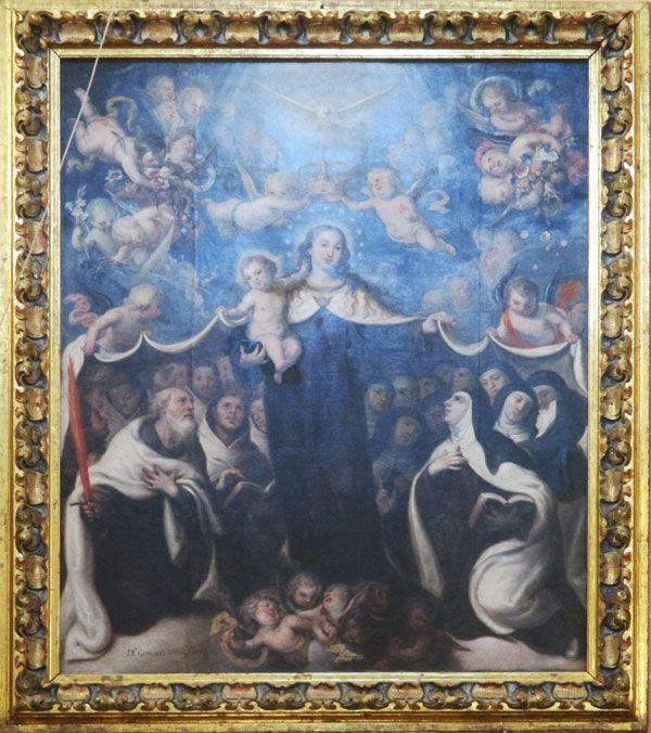 La Virgen del Carmen protegiendo a los Carmelitas en Carmelitas Descalzas, Sepulcro de Santa Teresa