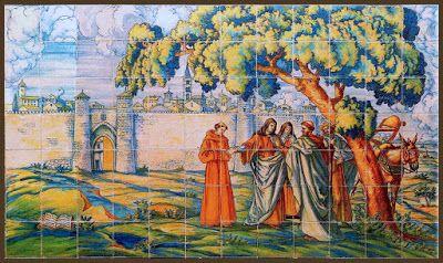 Encuentro de Santa Teresa con San Juan de la Cruz en Valladolid