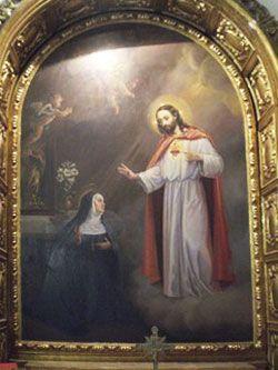 Aparición de Cristo a Santa Teresa en Carmelitas Descalzas, Alba de Tormes