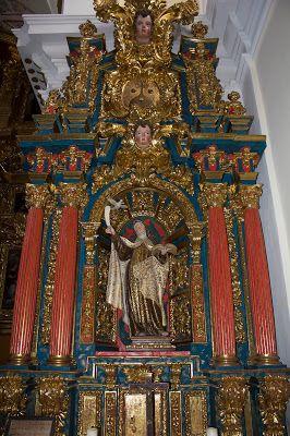 Santa Teresa (retablo lateral) en Carmelitas Descalzas, Alba de T