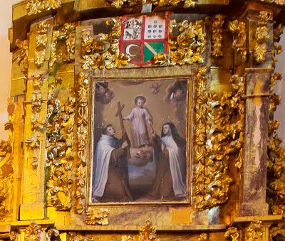 Santa Teresa y San Juan de la Cruz (Capilla lateral) en Carmelitas Descalzas, Sepulcro de Santa Teresa