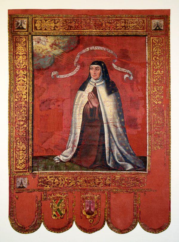 Estandarte de la canonización de santa Teresa