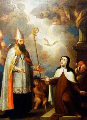 (Camerin alto) Santa Teresa y San Agustín en Carmelitas Descalzas, Alba de Tormes