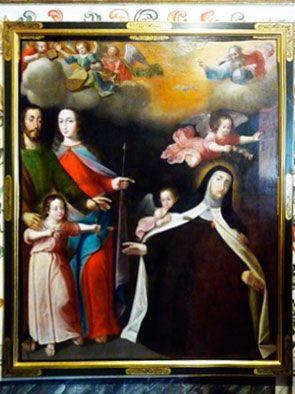 (Camerin alto) Santa Teresa y la Sagrada Familia