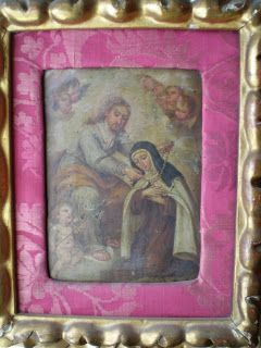 Representa una de las Visiones de Jesucristo por Santa Teresa de Jesús en Carmelitas Descalzas, Alba de Tormes