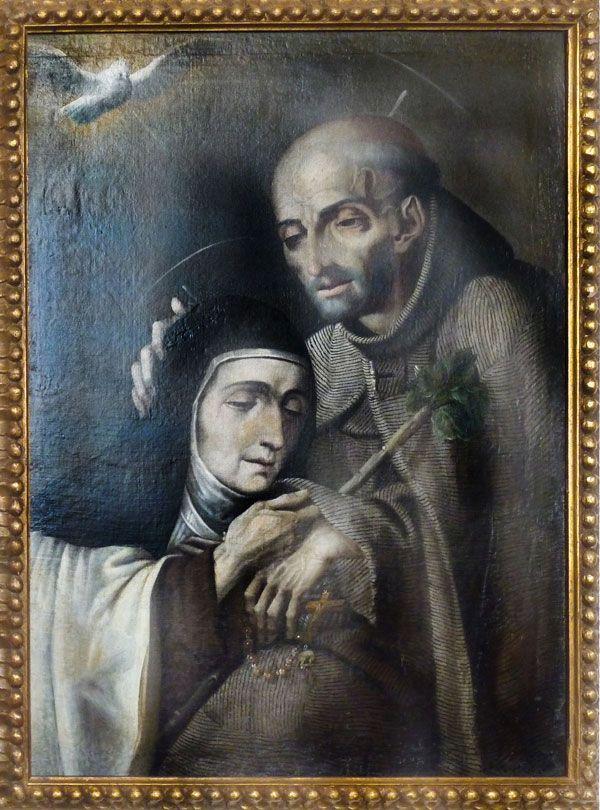 Santos Pedro de Alcántara y Teresa de Ávila en Carmelitas Descalzas, Alba de Tormes