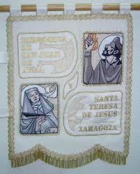 Estandarte de San Juan de Avila y Santa Teresa de Jesús en Carmelitas Descalzas, Sepulcro de Santa Teresa