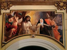 Cristo confortando a Santa Teresa