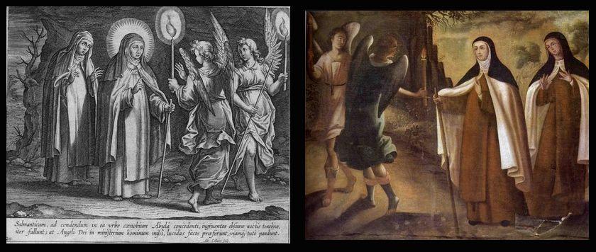Los ángeles iluminan el camino a Sta. Teresa