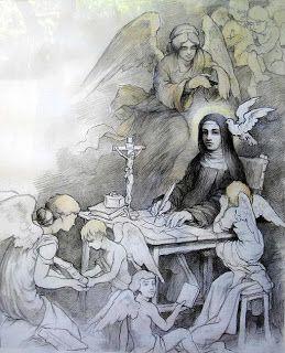 Santa Teresa escribiendo