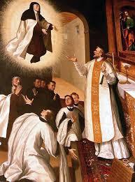 Santa Teresa de Jesús levitando en Carmelitas Descalzas, Sepulcro de Santa Teresa