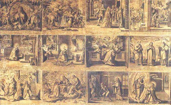 Conjunto de Estampas que narran la vida de la Santa de Ávila