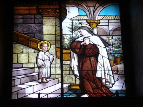 Aparición del Niño Jesús a Santa Teresa en Carmelitas Descalzas, Sepulcro de Santa Teresa