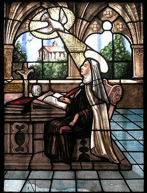 Santa Teresa inspirada por el Espíritu Santo Santa Teresa recibiendo la Inspiración Divina