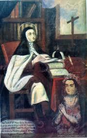Santa Teresa con donante