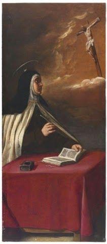 Aparición de Cristo crucificado a Santa Teresa de Jesús en carmelitas descalzas, Sepulcro de Santa Teresa
