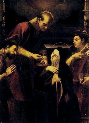 La comunión de Santa Teresa de Jesús en Carmelitas Descalzas, Sepulcro de Santa Teresa