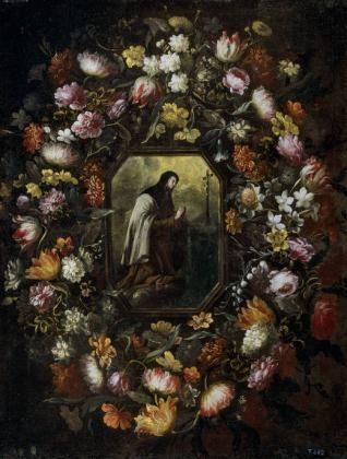 Guirnalda con Jesús y Santa Teresa