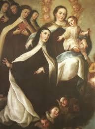Santa Teresa y la Virgen del Carmen en carmelitas Descalzas, Sepulcro de Santa Teresa