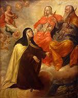 Visión de Santa Teresa de Ávila en carmelitas descalzas, Sepulcro de Santa Teresa