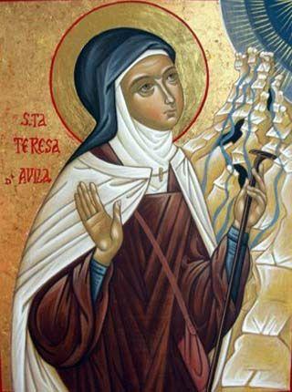 Icono Santa Teresa de Ávila en carmelitas Descalzas, Sepulcro de Santa Teresa