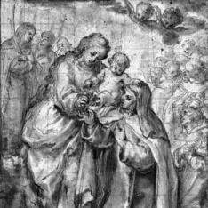 La Virgen con el Niño, Santa Teresa de Jesús y otros santos