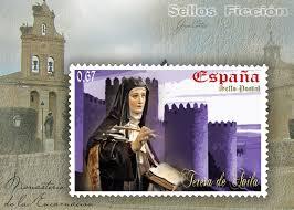 Sello con El Monasterio de la Encarnación en Carmelitas descalzas, Alba de Tormes