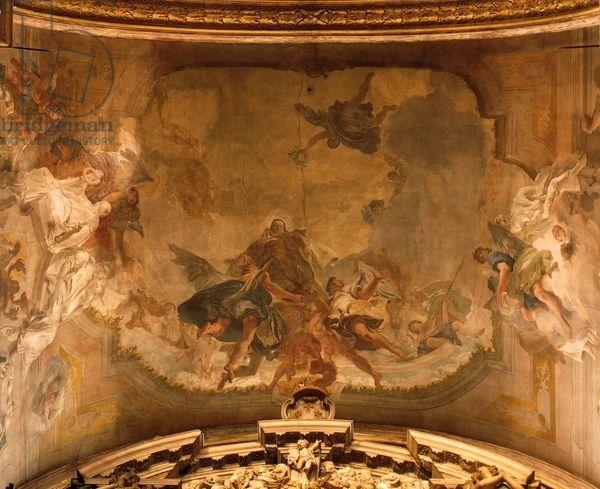 Apoteosis de Santa Teresa en carmelitas Descalzas, Sepulcro de Santa Teresa