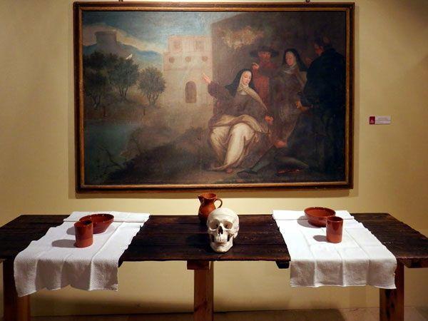 Santa Teresa señalando el sitio de la III fundación