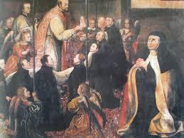 Santa Teresa de Jesús con los Santos de La Compañia de Jesús
