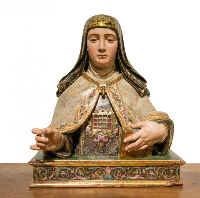 Busto-relicario de Santa Teresa en Carmelitas Descalzas, Alba de Tormes