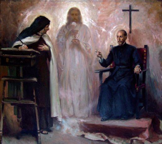 Santa Teresa de Jesús consulta a San Francisco de Borja
