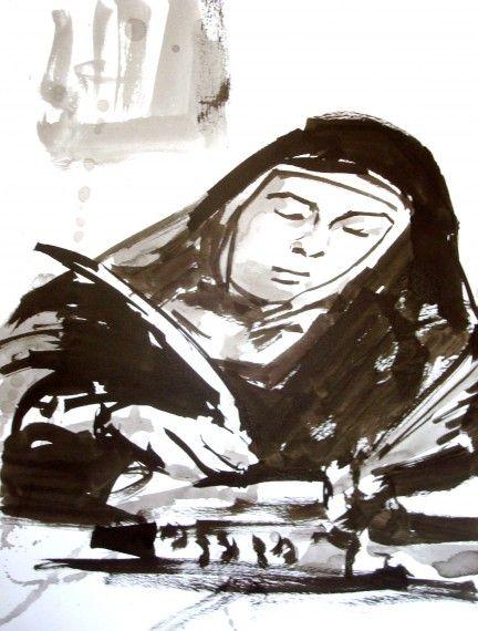 Sombra que desea ser iluminada: Teresa de Jesús homenajeada por Verónica Amat y Miguel Elías en Carmelitas Descalzas, Sepulcro de Santa Teresa