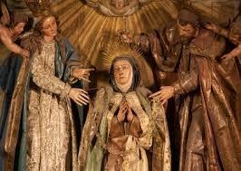Santa Teresa de Jesús con María y José