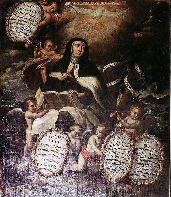 Santa Teresa de Jesús como patriarca, doctora, virgen y mártir en Carmelitas Descalzas, Alba de Tormes