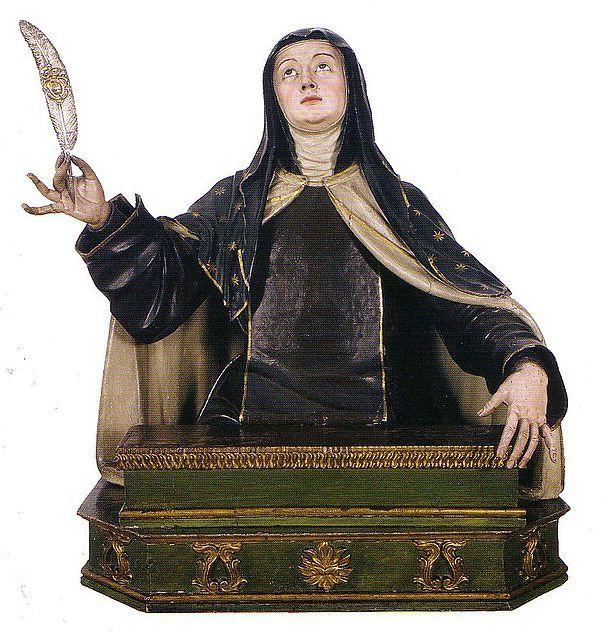 Busto de Santa Teresa de Jesús en Carmelitas Descalzas, Sepulcro de Santa Teresa