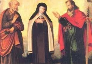 San Pedro y San Pablo, protectores de Santa Teresa en Carmelitas Descalzas, Sepulcro de Santa Teresa
