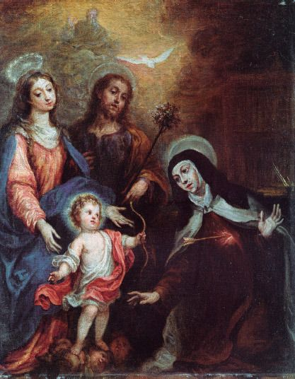 Transverberación de Santa Teresa en carmelitas Descalzas, Sepulcro de Santa Teresa