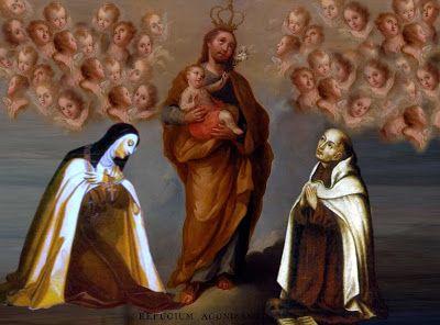 Santa Teresa de Jesús y San Juan de la Cruz y el Glorioso San José