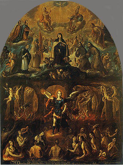 Gloria de Santa Teresa sobre el purgatorio y el infierno en Carmelitas Descalzas, Alba de Tormes